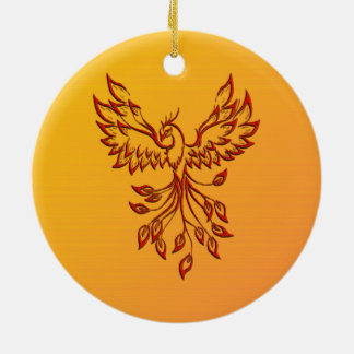 Flight of A Phoenix Ceramic Ornament