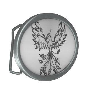 Flight of A Phoenix Silver Belt Buckles