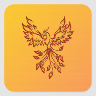 Flight of A Phoenix Square Sticker