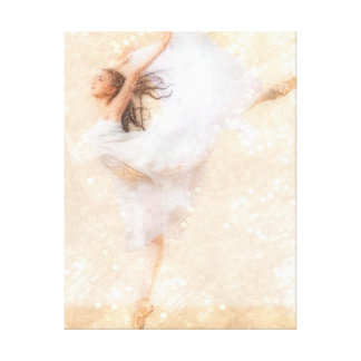 Flight of Dance Stretched Canvas Print