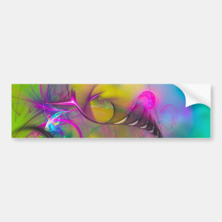 Flight of Icarus  - colorful digital abstract art Bumper Sticker