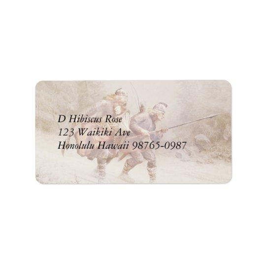 Flight of Infant King Address Label