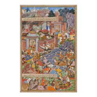 Flight of Sultan Bahadur During Humayun s Campaign Poster