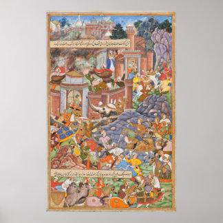 Flight of Sultan Bahadur During Humayun's Campaign Poster