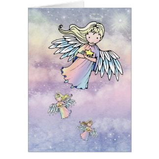 Flight of the Angels Card by Molly Harrison