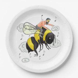 Flight of the Bumblebee by Nicolai Rimsky-Korsakov 9 Inch Paper Plate