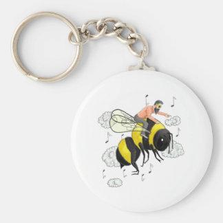 Flight of the Bumblebee by Nicolai Rimsky-Korsakov Basic Round Button Key Ring