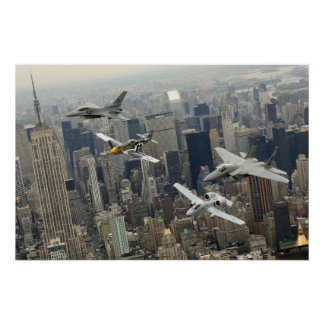 Flight over New York Poster