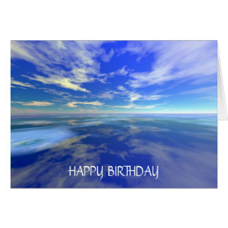 Flight over Water - Birthday (Template) Greeting Card