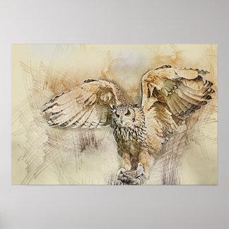Flight Owl Poster