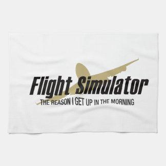 Flight Simulator Reason I get Up Kitchen Towels