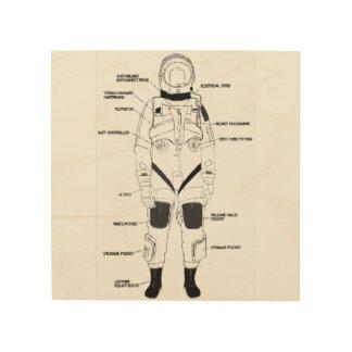 Flight Suit Development Wood Print