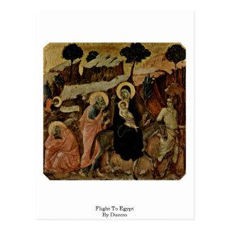 Flight To Egypt By Duccio Postcard
