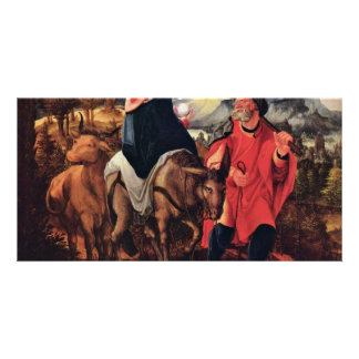 Flight To Egypt By Huber Wolf (Best Quality) Photo Card