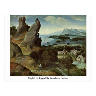 Flight To Egypt By Joachim Patinir Post Cards