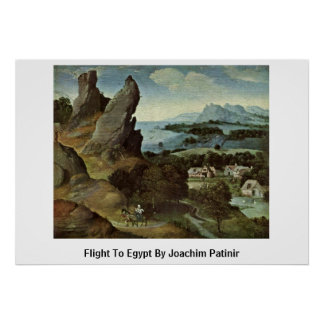 Flight To Egypt By Joachim Patinir Poster