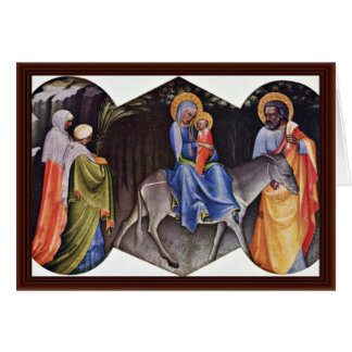 Flight To Egypt By Lorenzo Monaco Don Card