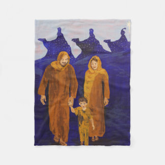 Flight To Egypt - Fleece Blanket