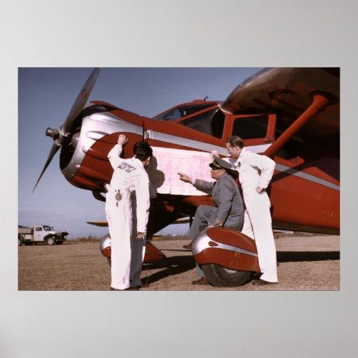 Flight Training, 1942 Print