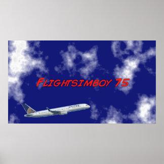 "Flightsimboy 75 11"" x 8.5"" Poster"