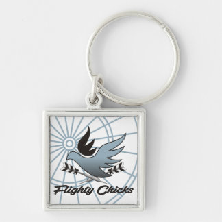 Flighty Chicks Darts Team Key Ring
