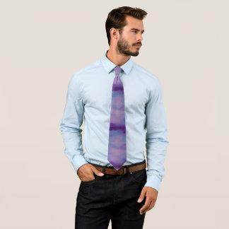 Flighty Fashion | Pink Purple Blue Sky Clouds Tie