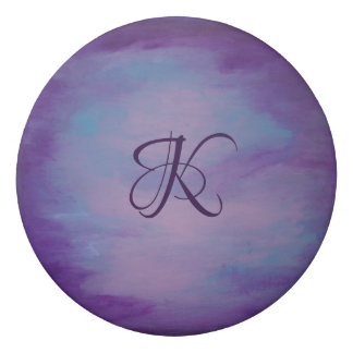 Flighty Office | Monogram Purple Blue Pink | Chic Eraser