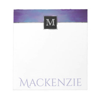 Flighty Office | Name Chic Purple Blue Pink Pastel Notepad