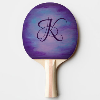 Flighty Play | Monogram Pink Blue Purple | Pastel Ping Pong Paddle
