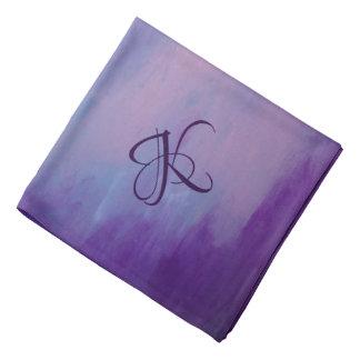 Flighty Style | Monogram Purple Blue Pink | Pastel Bandana