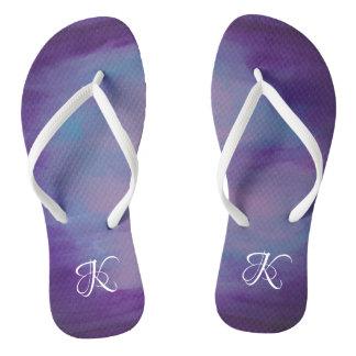 Flighty Style | Monogram Purple Blue Pink | Pastel Thongs