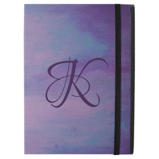 "Flighty Tech   Monogram Purple Blue Pink   Pastel iPad Pro 12.9"" Case"