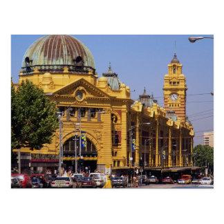 Flinders Street railway station, Melbourne, Austra Postcard