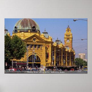 Flinders Street railway station, Melbourne, Austra Poster