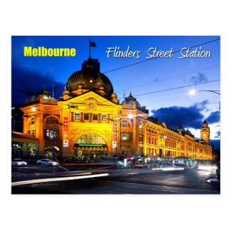 Flinders Street Station, Melbourne - At Dusk Postcard