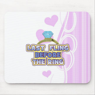fling before ring bride bachelorette wedding party mouse pad