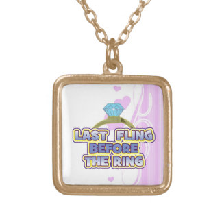 fling before ring bride bachelorette wedding party personalized necklace