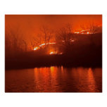 Flint Hills Kansas Prairie Burn Poster