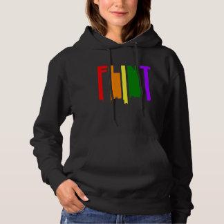 Flint Michigan Gay Pride Rainbow Skyline Hoodie