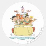 Flintstones Families2 Round Sticker