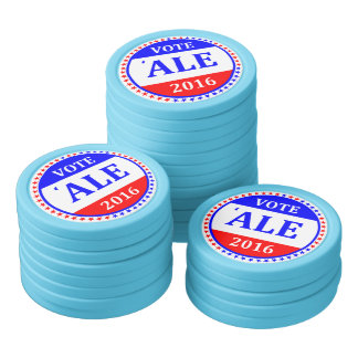 Flip a coin! Vote RUM? Vote ALE 2016? (see images) Set Of Poker Chips