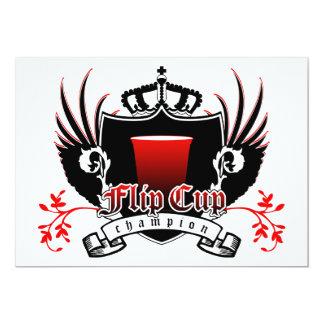 flip cup champion royal crest 13 cm x 18 cm invitation card