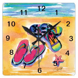 Flip-flop Acrylic Wall Clock