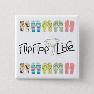 Flip Flop Life 15 Cm Square Badge