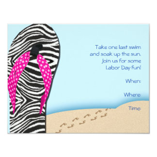 Flip Flop on the Beach Party Invitation