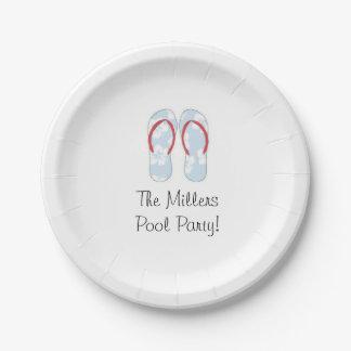 flip flop paper plates