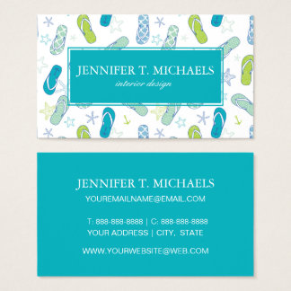 Flip Flop Pattern Business Card