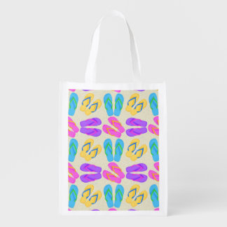 Flip Flop pattern reusable grocery bag