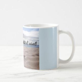Flip-flop state of mind mug with glistening sand!