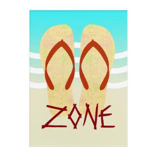 Flip Flop Zone Beach Waves Sand Acrylic Print